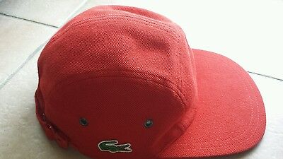 Casquette lacoste rouge - taille 1