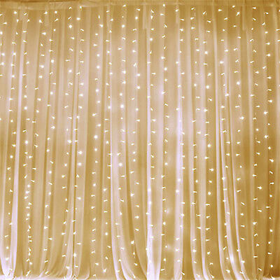 Clear LED Lights on Organza BACKDROP 20 ft x 10 ft Party Wedding Decorations