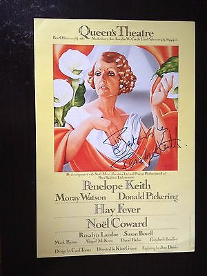 Penelope Keith - Popular British Actress - Signed Theatre Leaflet