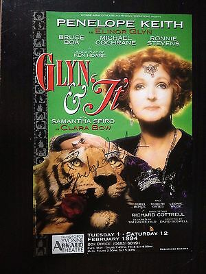 Penelope Keith - Leading British Actress - Signed Theatre Leaflet