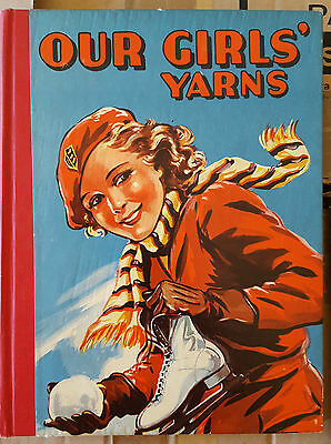 OUR GIRLS' YARNS c1930's ANNUAL in EXCELLENT CONDITION - RARE!