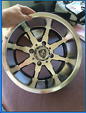 "1 set of 4 x Brand New Fairway 12"" Alloy Wheels/Rims Golf Cart"