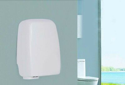 New White Plastics Bathroom Wall Mounted Automatic Induction Hand Dryer Machine