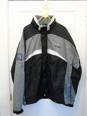 Cell  C  Sharks  South African   Rugby  Hooded  Coat    In  Size  Adult  Xl