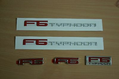 Ba Bf Fpv F6 Badge Set /front Grille/side Skirt And Rear Boot Badges