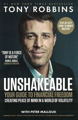 Unshakeable - Your Guide To Financial Freedom by Tony Robbins NEW