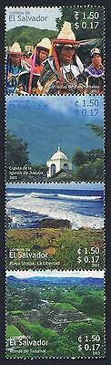 Salvador 1595 ad strip,MNH. Tourism 2003.Brotherhood of Panchimalco,Church,