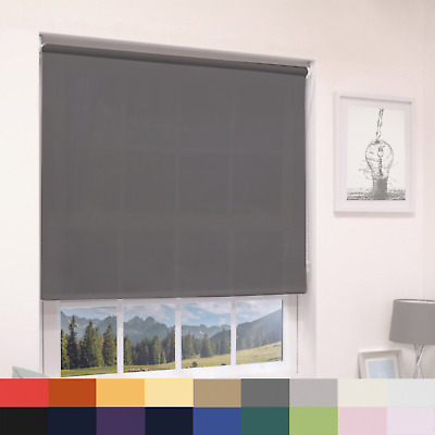 DIM OUT ROLLER BLINDS - STRAIGHT EDGE  - UP TO 240cm WIDTH  & MANY COLOURS