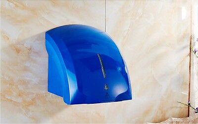 New Blue Bathroom Wall Mounted Infrared Automatic Induction Hand Dryer Machine