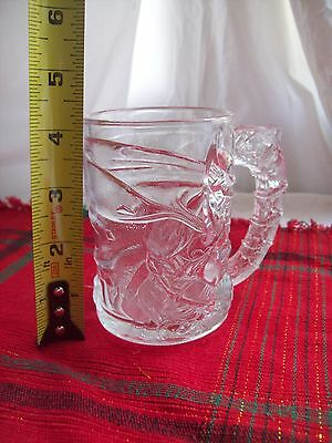 BATMAN FOREVER Cup Mug Glass McDonald's Vintage Collectible 1995~Clear