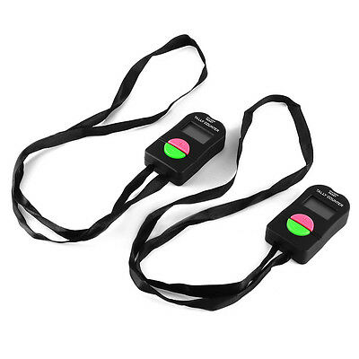 2pcs Tally Counter Score Hand Held Digital Up/Down Sports Golf Lap Reset BI604