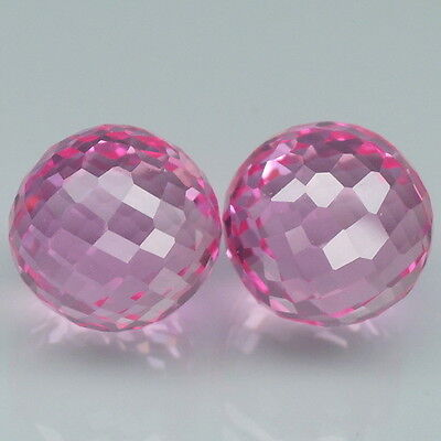 27.7Ct.  Lovely Pair!!!   Pink Topaz Fancy ~ Ball