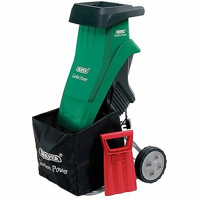 Draper 2400W 230V Garden Gardening Leaf Twig Shredder Shredding Machine