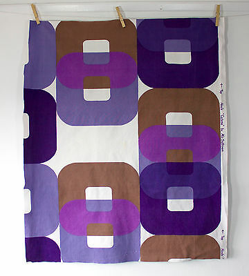 vintage 1963 Heals Catena Mo Sullivan Op Art print cotton fabric piece 2