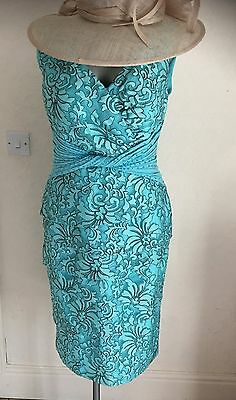L'Atelier Mother of the Bride Turquoise & Black Size 16 BRAND NEW