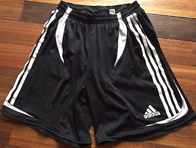 ADIDAS Youth XL Soccer Shorts ~ Lined ~ Black w White
