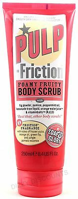 SOAP & GLORY 250ml Pulp Fiction BODY SCRUB Foamy Fruity Exfoliator