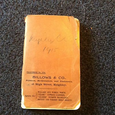 1915/16, Keighley Cricket Club,facts Figures Reports Of Matches,  Very Rare Item