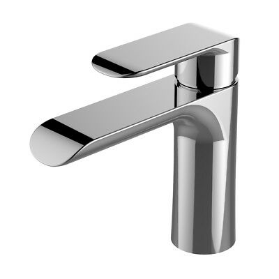 Modern Basin Sink Tap Round Mixer Chrome Mono Bloc Luxury Bathroom Cloakroom