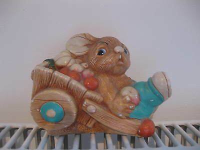 Pendelfin 'Barrow Boy' Rabbit  ~ Handpainted Stonecraft.