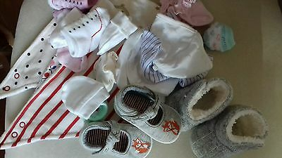 mixture of girls baby hats.socks.shoes and bibs