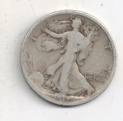 1917-P Walking Liberty Half Dollar 90% Silver