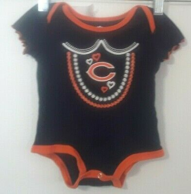 Chicago Bears 0/3 m Girls Outfit With Short Sleeves NWT