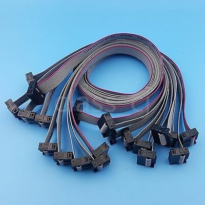10Pcs 10Pin IDC Flat Ribbon 50cm DATA Cable 2.54mm Pitch AVR ISP JTAG Wire
