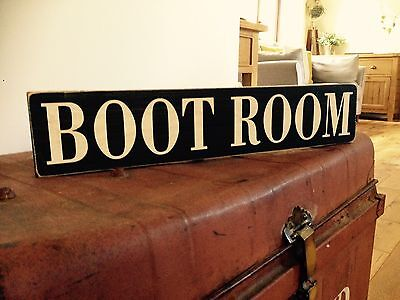 Boot Room Vintage Sign Old Look Pub Hotel Shoes Storage Wellington Boots