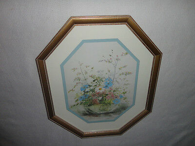 Home Interiors Octagon '' Vase of Flowers''  Gorgeous 16'' x 19''