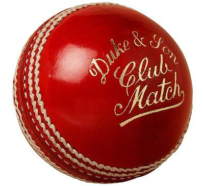 Dukes Club Match 'A' Red Cricket Balls Size:5.5oz