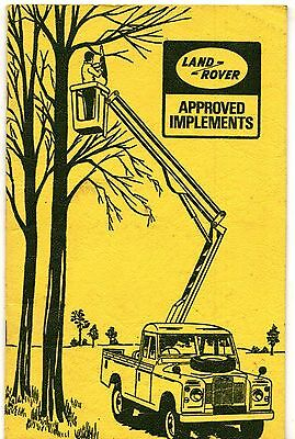 Land Rover Series IIA Approved Implements 1969-70 UK Market Sales Brochure
