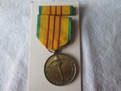 Vintage U S A Republic Of Vietnam Service Medal Original Box. Military