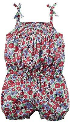 """""""Floral Party""""- NWT Carter's Baby Girl Romper Size 6 Months"""