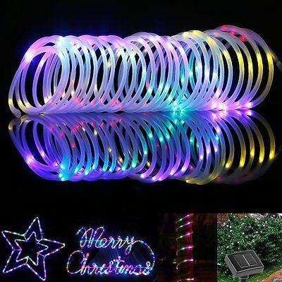 LE 12m 100 LED Solar Rope Lights Waterproof