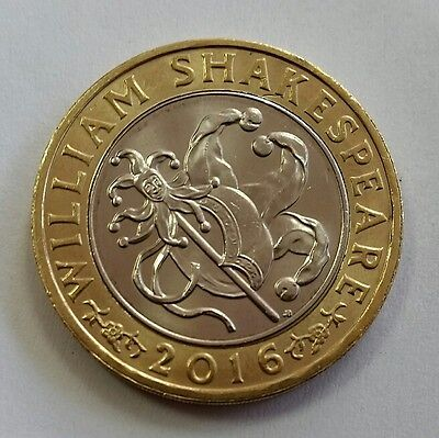 2016 William Shakespeare Jesters Stick and Hat Comedies £2 Two Pound Coin
