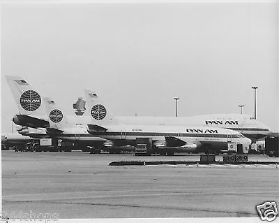 VINTAGE Pan Am - TAIL PHOTO  BLACK AND WHITE 8 X 10