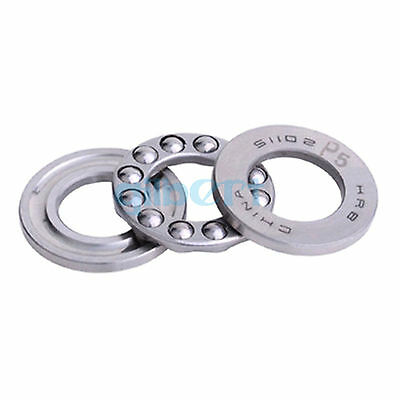 51102 ABEC-5/P5 15 x 28 x 9mm Axial Ball Thrust Bearing (2 Steel Races +1 Cage)