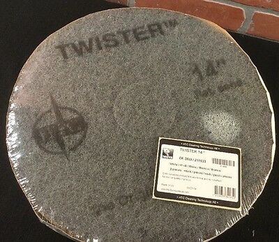 """Twister DP36W Diamond Cleaning System Pads 14"""" 1 Pkg / 2 Pads"""