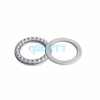 51112 ABEC-5/P5 60x85x17mm Axial Ball Thrust Bearing Set(2 Steel Races + 1 Cage)