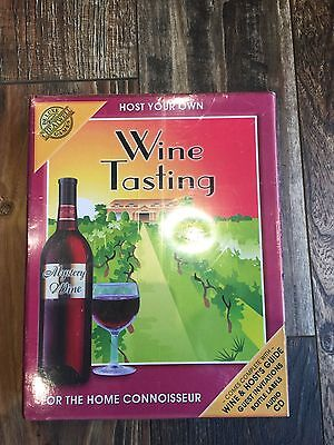 """Cheatwell Gifts & Games """"Host Your Own Wine Tasting"""" Game-NIB!!!"""