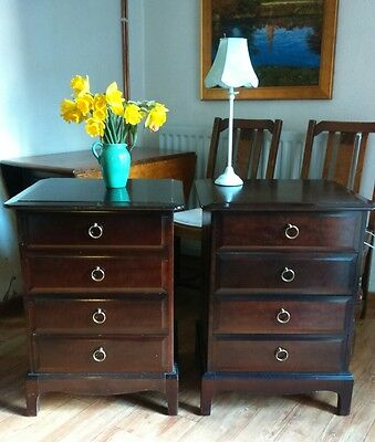 Pair of Stag Minstrel Chest Of Drawers / Bedside Cabinets / Tables