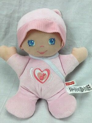 "10"" Fisher Price Hug n Giggles Musical Pink Soft Plush Baby Doll 2010 EUC"