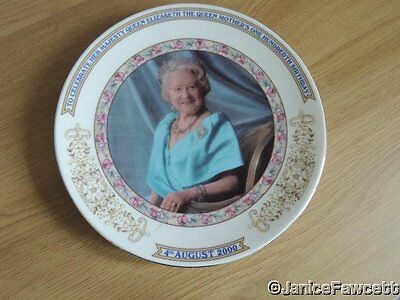 Queen Elizabeth the Queen Mother's 100th Birthday Plate by Aynsley