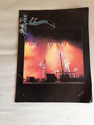 Genesis Wind and Wuthering 1977 World Tour Programme