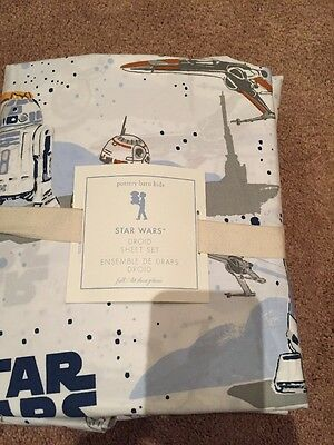 NWT Pottery Barn Kids Star Wars Droid Sheet Set  Full  HTF
