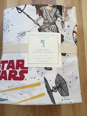 NWT Pottery Barn Kids Star Wars Force Awakens  Sheet Set Full 2017 $109