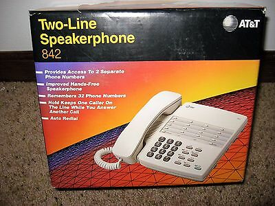 AT&T 842 Two-Line Speakerphone-New Old Stock