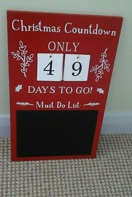 Christmas advent countdown