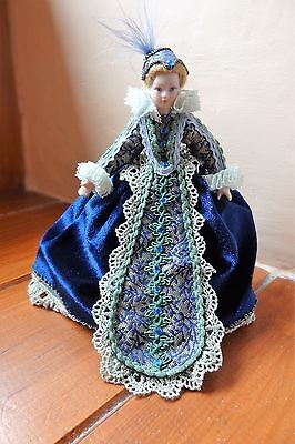 OOAK 1.12 scale hand dressed Dolls House Character Doll  Elegant Regal Lady.